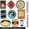 Vintage Labels Collection - 9 design elements with original antique style -Set 5 - stock photo