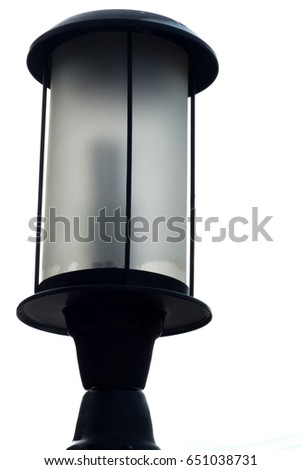 Vintage lamp isolated on  white background.Outdoor wall lantern