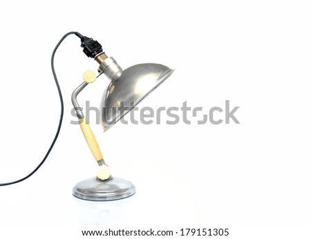 Vintage lamp on white background