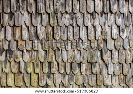 Vintage lap over pattern of old wooden wall. The grunge wall is made of pieces of wood plate.