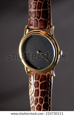 Vintage leather strap watch