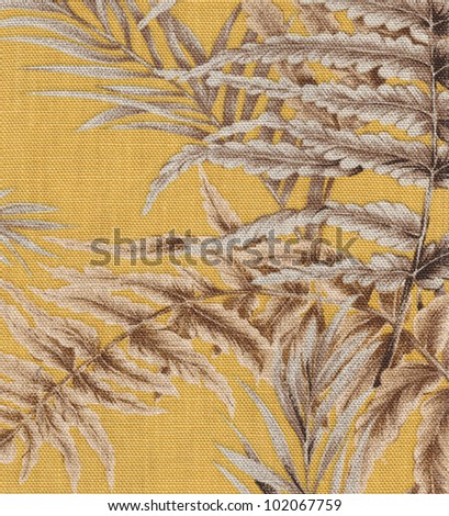 Vintage leaves fabric texture background - stock photo