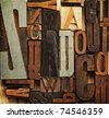 Vintage letter prints - stock photo