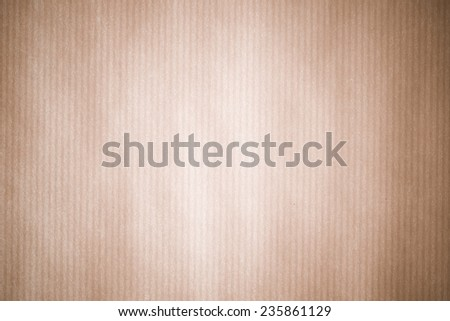Vintage light brown paper with stripe texture background - stock photo