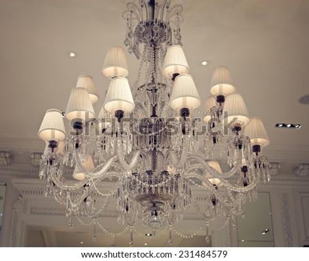 Vintage light fixture  - stock photo