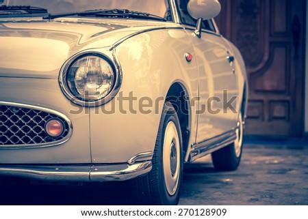 vintage light lamp car - stock photo