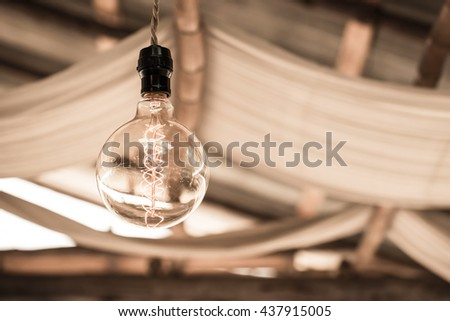Vintage lighting for home decoration - stock photo