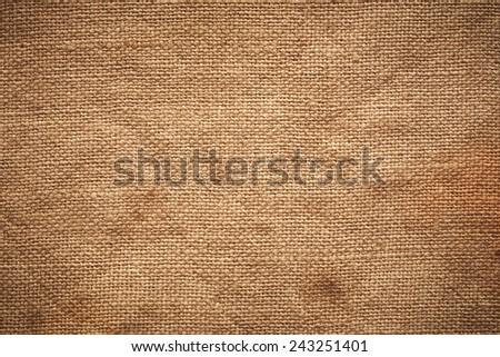 Vintage linen fabric texture - stock photo