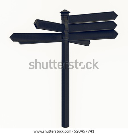 Vintage looking A picture of Direction arrows traffic sign