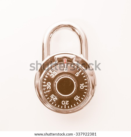 Vintage looking High security single dial stoplock combination padlock