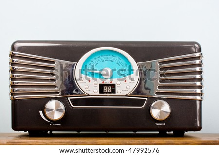 Vintage looking modern radio - stock photo