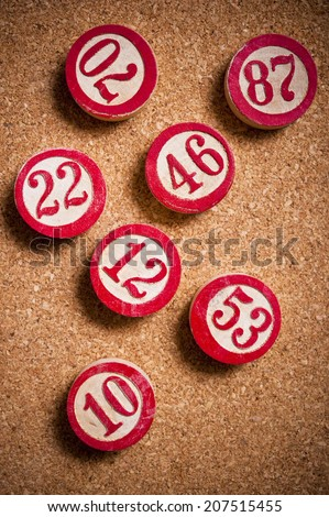 vintage lotto or bingo numbers