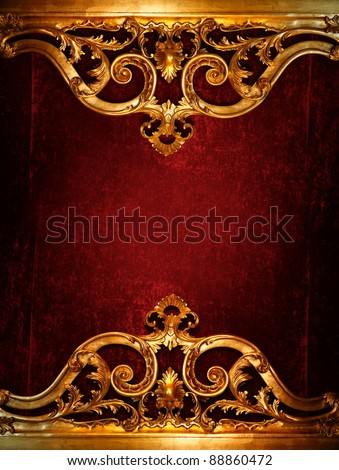 Vintage luxury decoration - stock photo