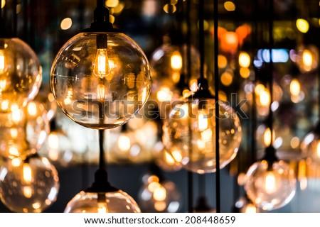 Vintage luxury interior lighting lamp decor - stock photo