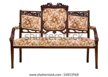Vintage luxury sofa - stock photo
