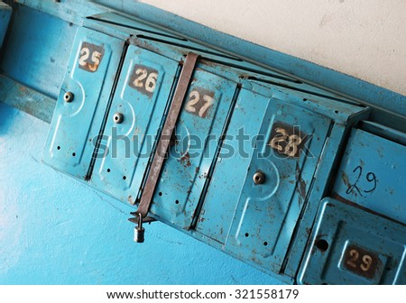 vintage mailboxes