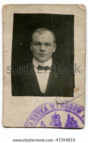 Vintage man portrait - stock photo