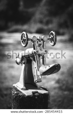 Vintage manifacture tool - stock photo