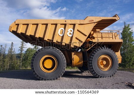 vintage mega dump truck - stock photo