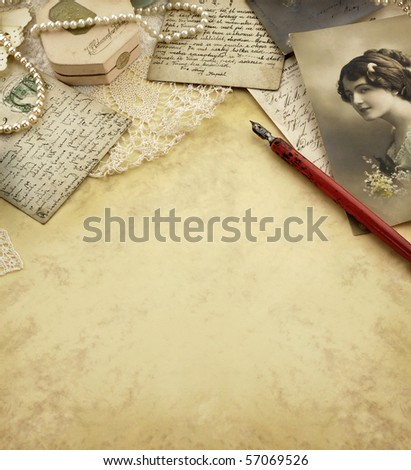 Vintage memories background - stock photo