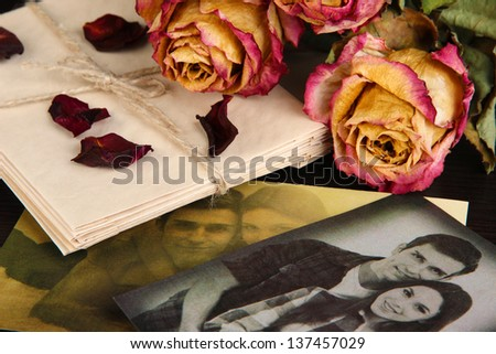 Vintage memories close up - stock photo