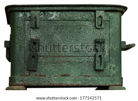 Vintage Metal Box isolated on white