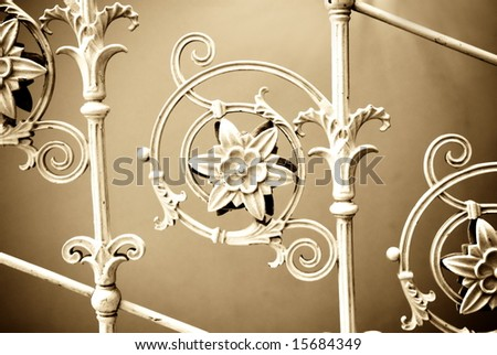 Vintage metal decoration - stock photo