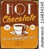 Vintage metal sign - Hot Chocolate - JPG Version - stock vector