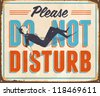 Vintage Metal Sign - Please Do Not Disturb - JPG Version - stock