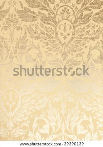 vintage metallic wallpaper background - stock photo