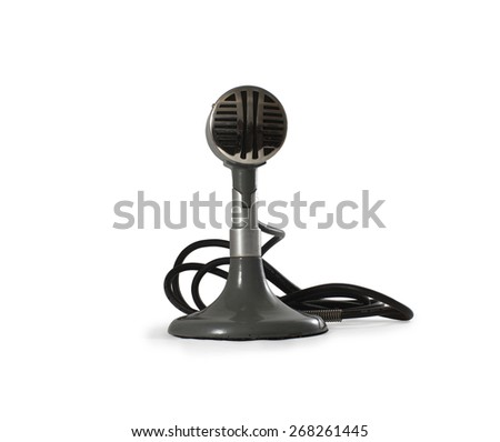 Vintage microphone. - stock photo