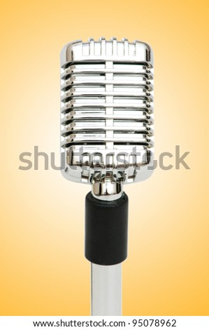 Vintage microphone isolated on the white background - stock photo