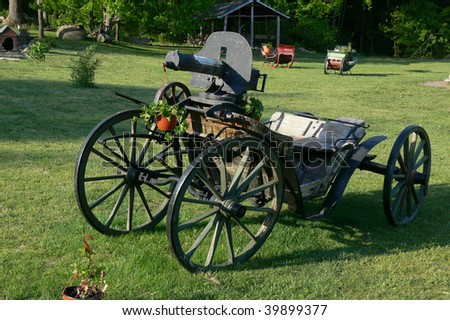 Vintage military carriage