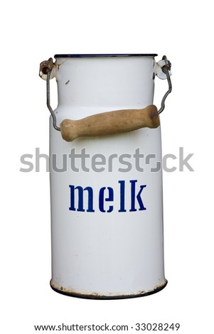 Vintage Milk Can w/ Path - stock photo