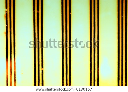 Vintage milk glass with stripes background stylized with grunge effects