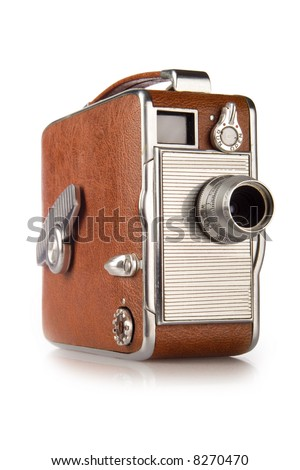 Vintage 8mm Camera - stock photo