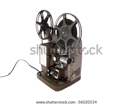 Vintage 8 mm Film Projector in mint condition. - stock photo