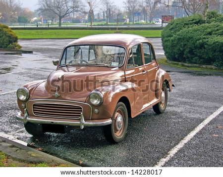 Vintage Morris Minor at Masterton, New Zealand 27/06/2008 - stock photo