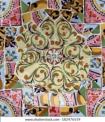 Vintage mosaic pattern - stock photo
