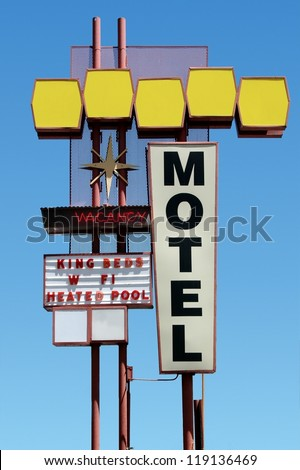 vintage motel sign - stock photo