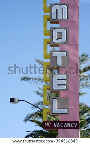 vintage motel sign - stock photo