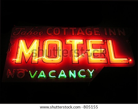 Vintage motel sign in America - stock photo