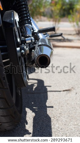 vintage motorbike - stock photo
