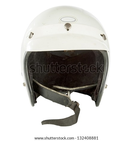 vintage motorcycle helmet isolated on white