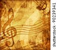 vintage music background - stock photo