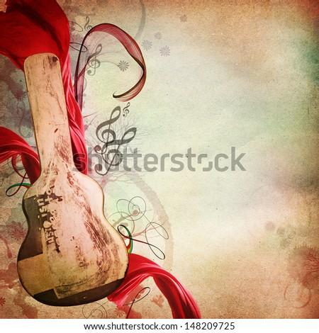 Vintage music background  - stock photo