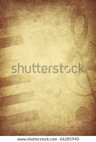 vintage music concept background - stock photo