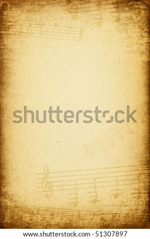 Vintage music paper background.