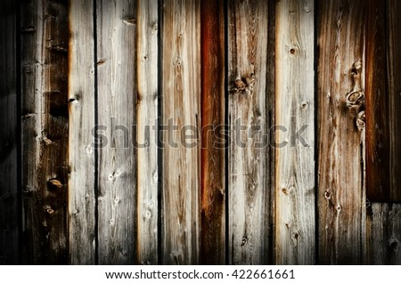 Vintage Natural Wooden Background - stock photo