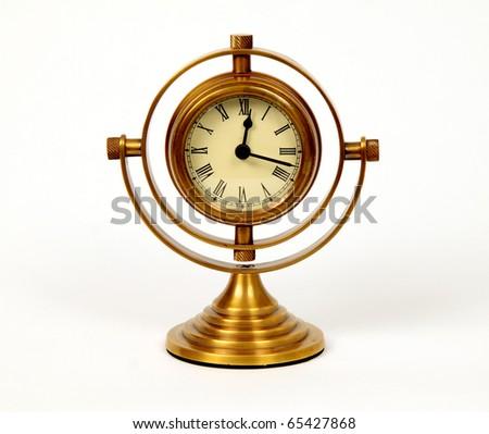 vintage naval clock - stock photo